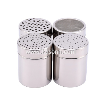 Mirror Stainless Steel Coffee Chocolate Sugar Powder Duster