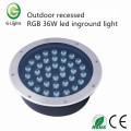 Outdoor recessed RGB 36W led inground light