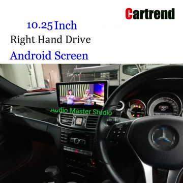 RHD Mercedes-Benz E класы үшін Android планшеті 13-18