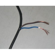 Copper core PVC insulated sheathed flat power cord