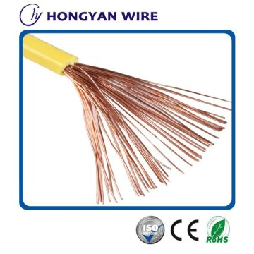 pvc stranded copper wire soft / flexible household cable
