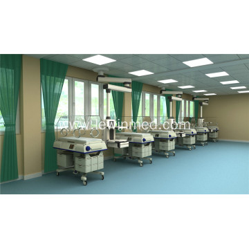Pneumatic braking system NICU ICU medical pendants