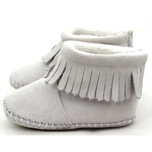 Leading for Baby Boots Moccasins Shenzhen Factory Leather Shoes Wholesale Baby Shoes export to South Korea Factory