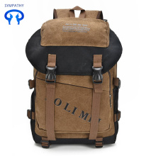 Bulky men's bag men's retro backpack