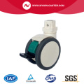 Suquare Cover Stem TPU Twin Wheels Medical Casters