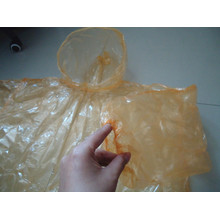 China OEM for Transparent PE Raincoat 0.02mm Transparent Disposable Rain Suit supply to South Korea Factory