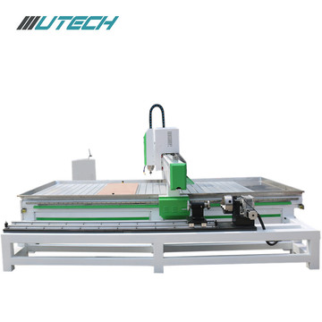 mdf door cnc making machine with rotating shaft