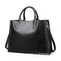 Vintage Leather Tote Top Handle Handbags for Ladies