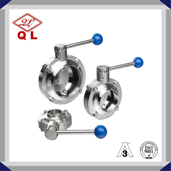 304/316L Sanitary Stainless Steel Welded Butterfly Valve