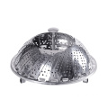 Full stainless steel folded food steamer grid