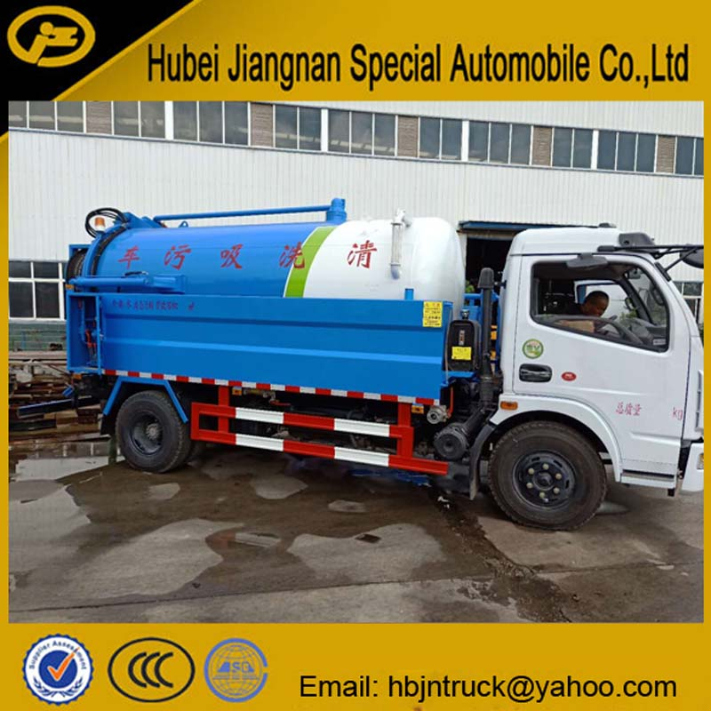 Vacuum Suction And Sewer Washing Truck