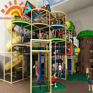 Large Play Structures Indoor Theme With Slide