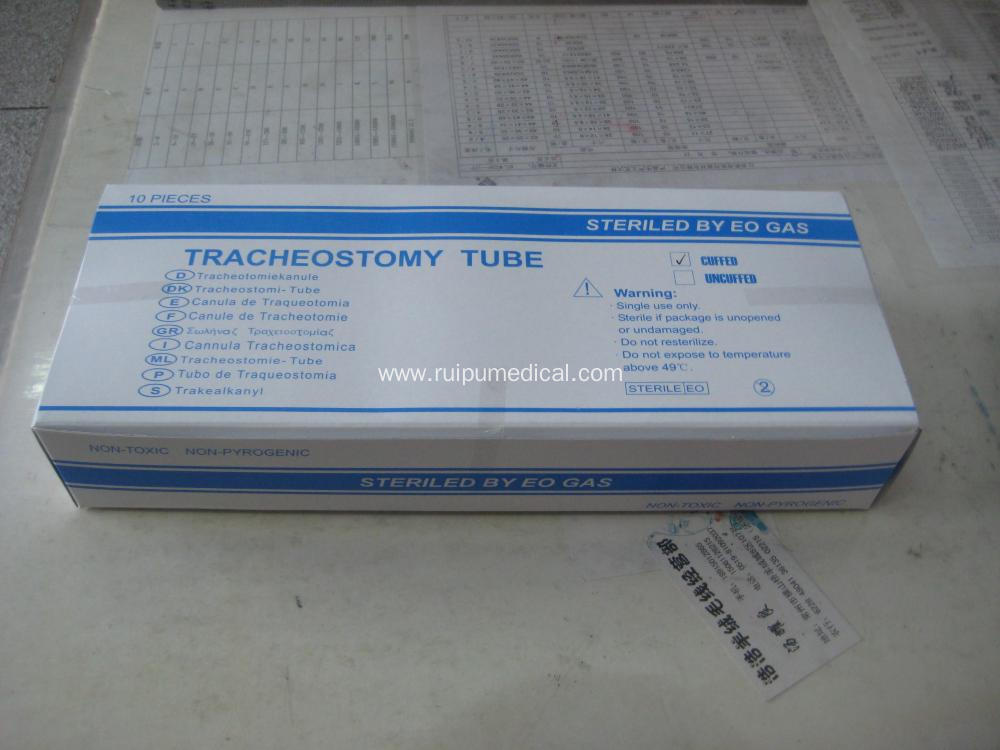 Surgical Disposable PVC Tracheotomy Tube Without Cuff
