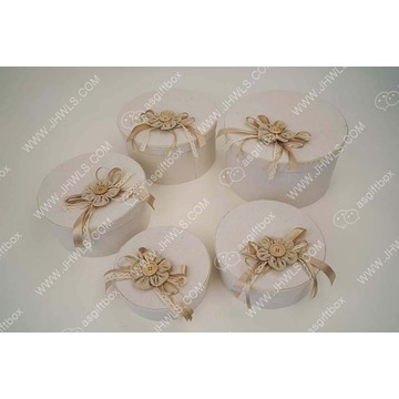 Wholesale handmade linen flower gift box