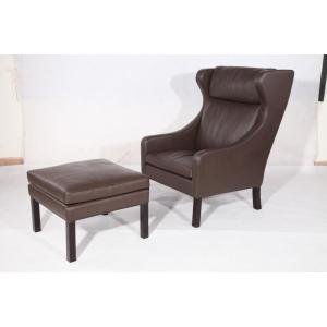 Factory made hot-sale for Leather Lounge Chair Borge Mogensen 2204 lounge chair and ottoman replica export to Germany Exporter