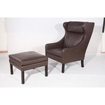 High Quality for Luxury Leather Lounge Chairs Borge Mogensen 2204 lounge chair and ottoman replica export to India Exporter