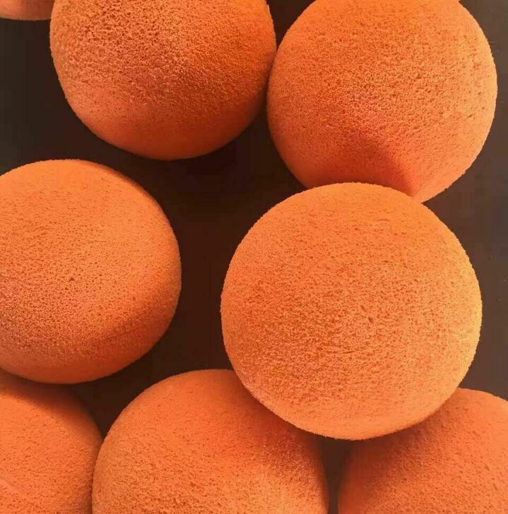 Concrete pump parts cleaning sponge rubber ball DN125 for Truck mounted concrete boom pump