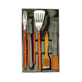 8pcs BBQ set with wooden handle