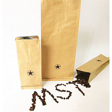 Coffee Beans Flat Bottom Pouch without Zipper