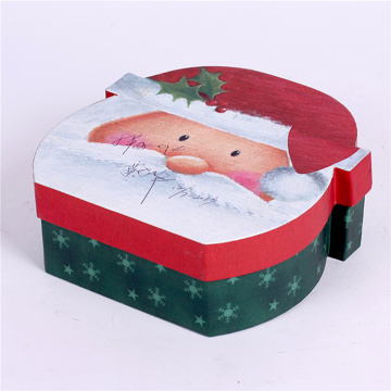 Decorative Christmas Santa Claus Cardboard Paper Gift Box