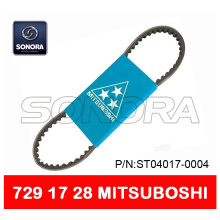 OEM/ODM China for Offer Bando Scooter Belt 669 18 30, Aerox Belt 751 16.5, CVT Drive Belt 788 17 28 from China Supplier MITSUBOSHI V BELT 729 x 17 x 28 SCOOTER MOTORCYCLE V BELT ORIGINAL QUALITY export to Germany Supplier