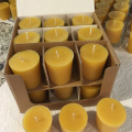 Round Shape 100% Pure Natural Beeswax Small Pillar Votive Candles