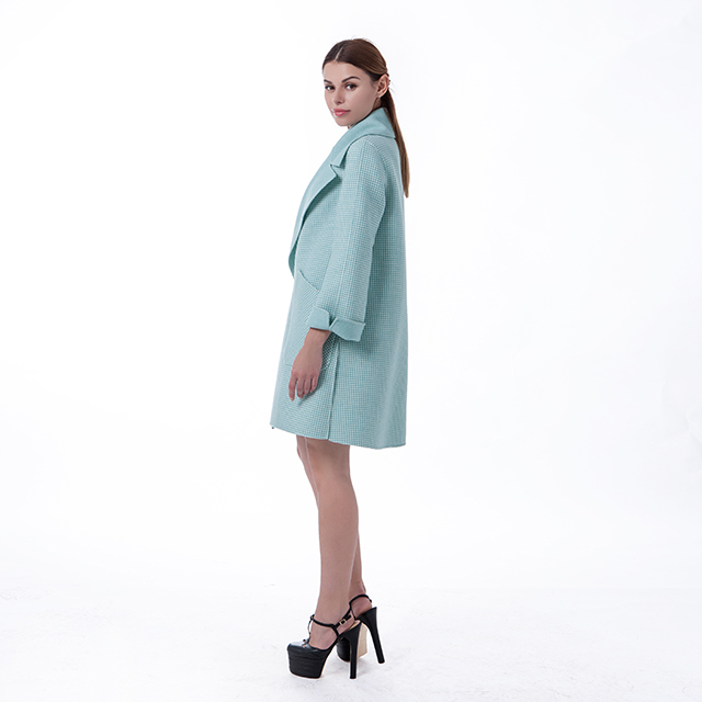 Cashmere winter coat new green