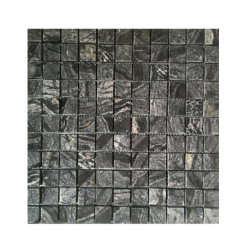 Black Marble Stone Mosaic Tiles for Interior Wall