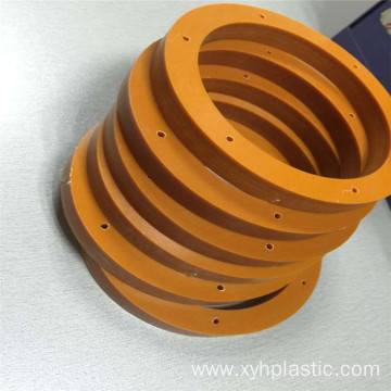 Processing Orange Phenolic Laminate Bakelite Board