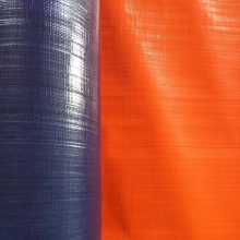 Europe style for Custom Tarps Orange Blue Tarpaulin Roll Goods supply to Germany Exporter