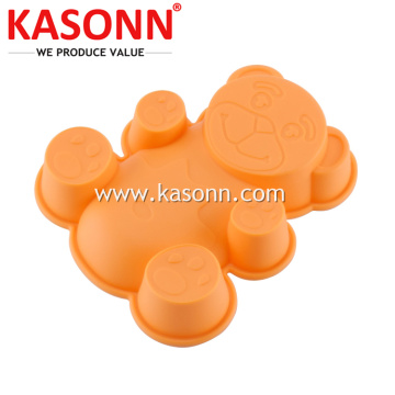 Small Silicone Bear Cake Mold Pan