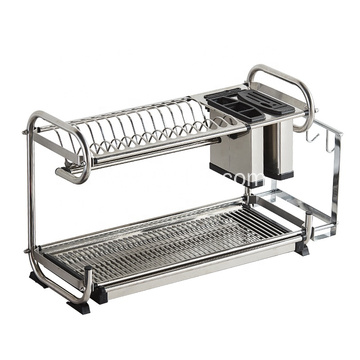 Modern Stainless Steel Storage Shelf Dish Drying Rack