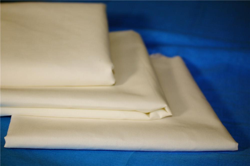 Polyester Cotton White Fabric
