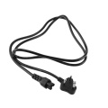 South Africa C5 Mains Plug Black Power Cable