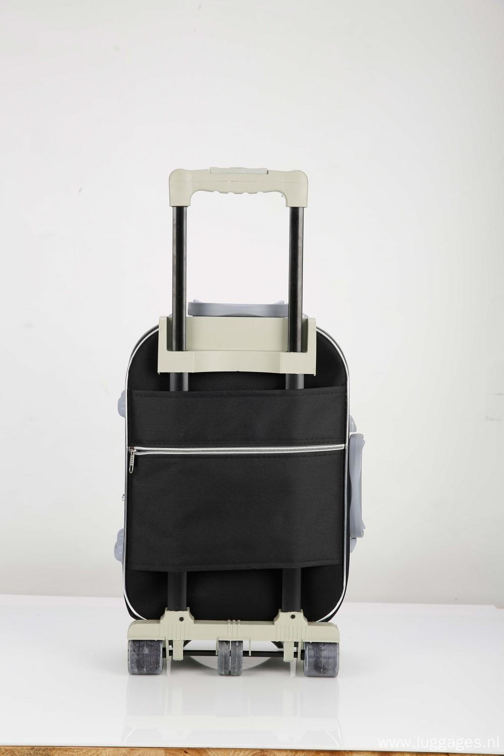 Expandable travel fabric luggage