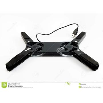 Black laptop fan plastic housing