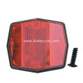Plastic Red Bicycle Reflector
