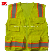 100% polyester traffic sport motorcycle reflective waistcoat