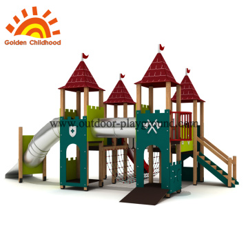 Wooden baby swing for playground