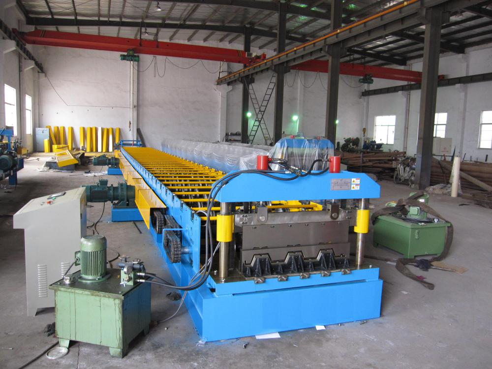 Galvanized Floor Deck Cold Roll Forming Machine for Steel Floor