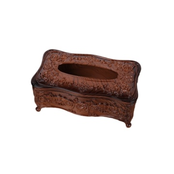 Redwood Style Carved Tissue Box