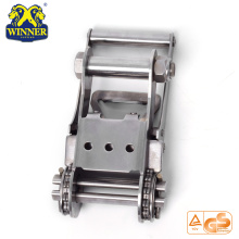 Short Handle Ratchet Stainless Steel Buckle For Webbing