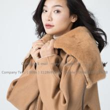 Cashmere Coat Lady With Mink Fur