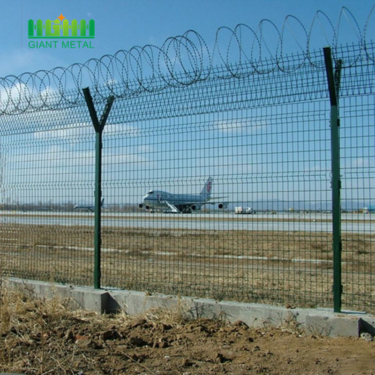 PVC Coated Welded Wie Mesh Airport Fence