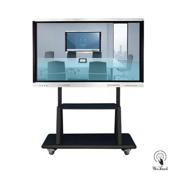 75 Inches Touch Meeting Panel with mobile stand