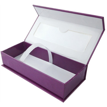Foil Stamped Glossy Eyelash Packaging Custom Paper Box