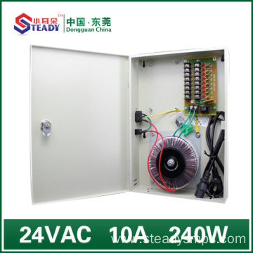 8 Channel output Boxed Power Supply 24V10A AC