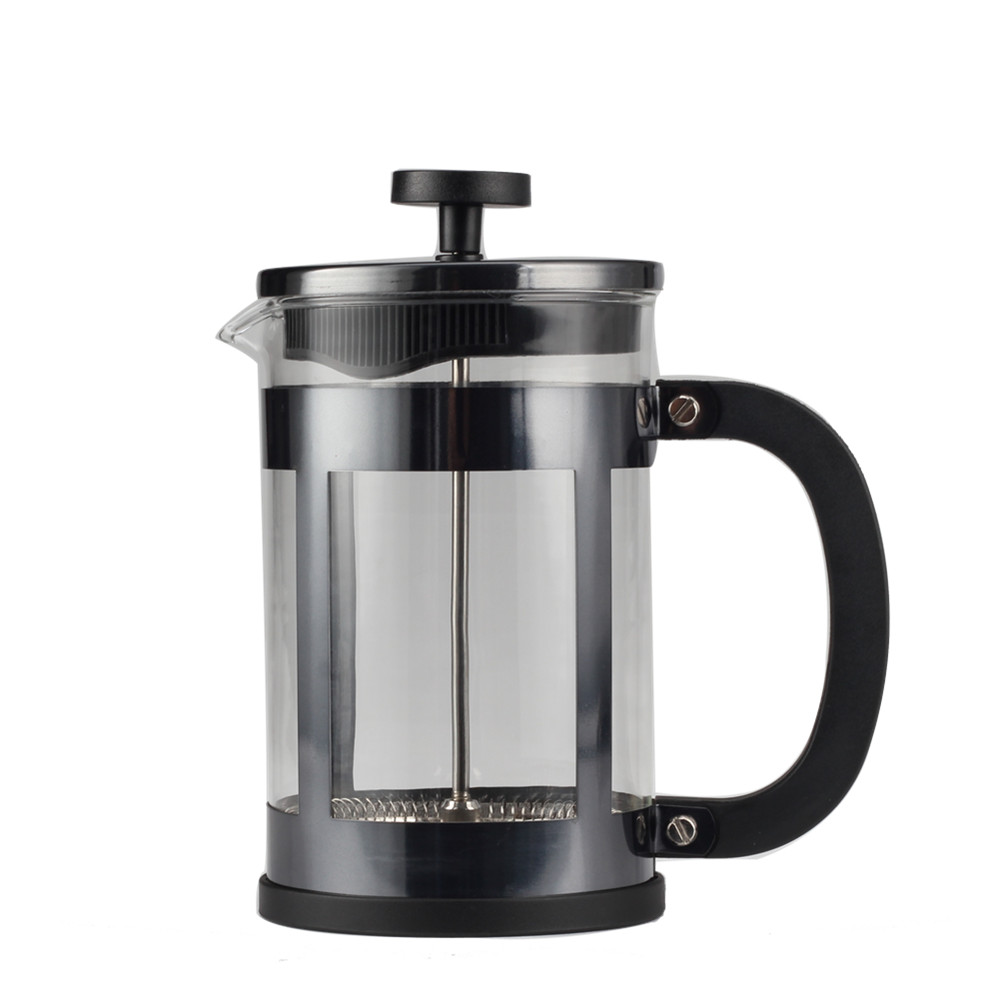 Silver Frame Glass French Press