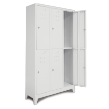 Steel lock cloth 6 door locker with feet