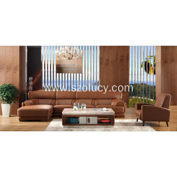 10 Years for Modern Genuine Leather Sofa Imported first layer cow leather sofa supply to Russian Federation Exporter